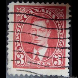 Canada 00192 roi George VI 3c de 1937