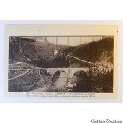CPA du Cantal, Garabit, vue générale du Viaduc
