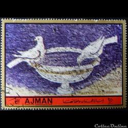 Ajman State 01681A Mosaïque du Mausolée ...