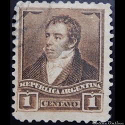 Argentine 00095 Bernardino Rivadavia 1c de 1892