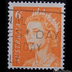 Australie 00323B Reine Elisabeth II 6c de 1970