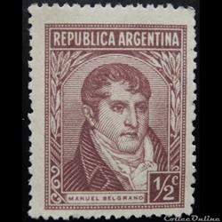 Argentine 00363 général Manuel Belgrano 1/2c de 1935
