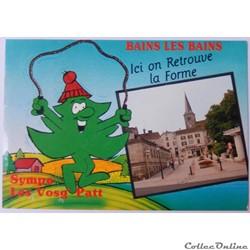 CP humoristique des Vosges, Bains-les-Bains