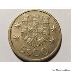Portugal, 5 escudos de 1966