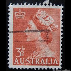 Australie 00225 Reine Elisabeth II 5c de 1956