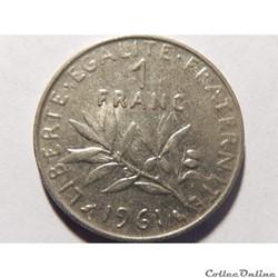 1 franc semeuse 1961