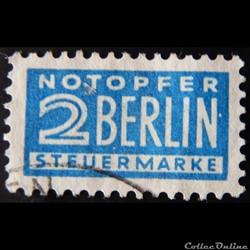 Allemagne Occupation 0070 chiffre 2pf de...
