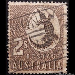 Australie 00229 Crocodile art aborigène 2s de 1956