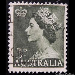 Australie 00197 Reine Elisabeth II 5c de 1953