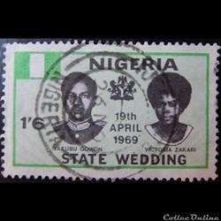 Nigeria 00229 Yakubo Gowon et Victoria Z...