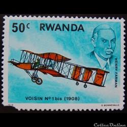 Rwanda 00852 avion Voisin n°1 bis (1908)...