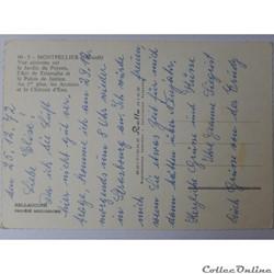 carte postale france languedoc roussillon cpa de herault montpellier vue aerienne
