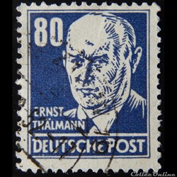 Allemagne RDA 00104 Ernst Thälmann 80pf ...