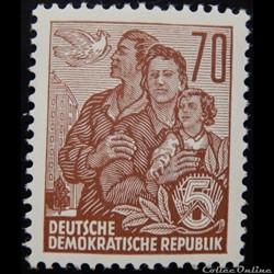 Allemagne RDA 00322B famille et colombe ...