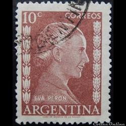 Argentine 00519 Eva Peron 10c de 1952