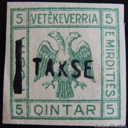 Albanie Mirditiës armoirie 5Q de 1921