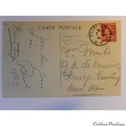 carte postale france rhone alpe cpa de ain bourg la place carriat et ecole