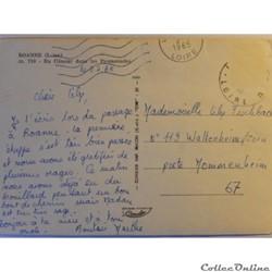 carte postale france rhone alpe cpa de la loire roanne