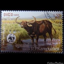 Cambodge 00698 Buffle d'Asie 1.50R de 19...
