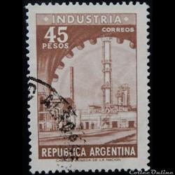 Argentine 00734 industrie 45p de 1966