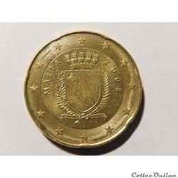 Malte, 20 centimes d'euro 2008