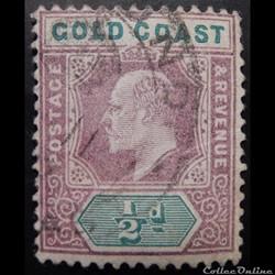 Côte d'or 00038 roi Edward VII 1/2d de 1...