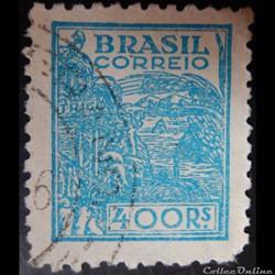 Brésil 00386 agriculture 400R de 1942