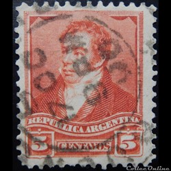 Argentine 00098 Bernardino Rivadavia 5c de 1892