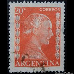 Argentine 00520 Eva Peron 20c de 1952