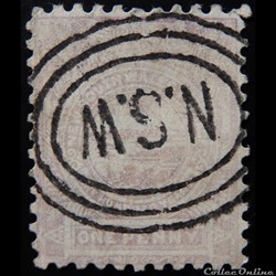 Australie New South Wales 00059  1penny de 1888 lilas