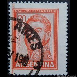 Argentine 00781 général José Francisco de San Martin 20p de 1967