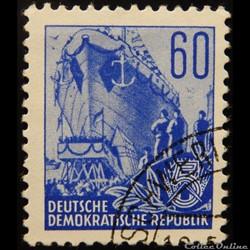Allemagne RDA 00160 chantier naval 60pf ...