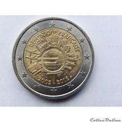 France, 10 ans de l'euros 2002-2012