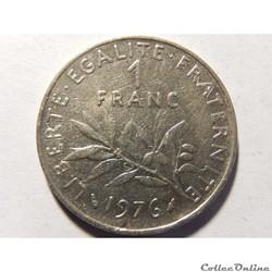 1 franc semeuse 1976