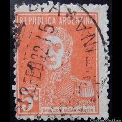 Argentine 00301 général José Francisco de San Martin 5c de 1924