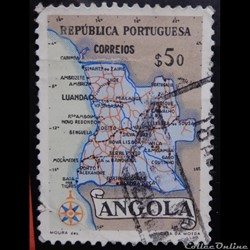 Angola 00383 Carte de l'Angola 50cts de 1955