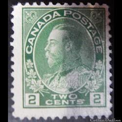 Canada 00109 roi George V 2c de 1922