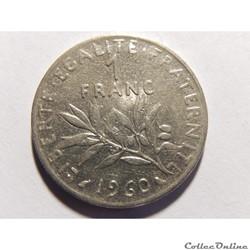 1 franc semeuse 1960