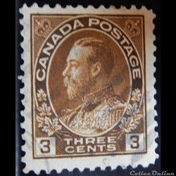 Canada 00110 roi George V 3c de 1918