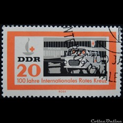 Allemagne RDA 00662 ambulance 20pf de 19...