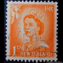 Nouvelle-Zélande 00352 reine Elisabeth II 1p de 1956