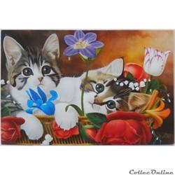 "CP Peinture ""Chatons espiègles"""