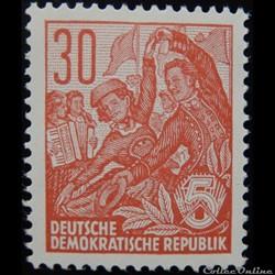 Allemagne RDA 00319B danse folklorique 3...