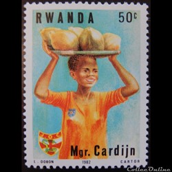 Rwanda 01111 cardinal Cardijn 50c de 198...