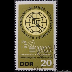 Allemagne RDA 00815 U.I.T. 20pf de 1965