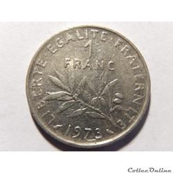 1 franc semeuse 1973