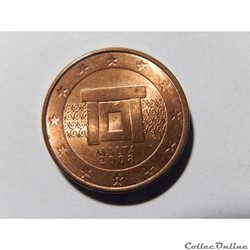Malte, 1 centime d'euro 2008
