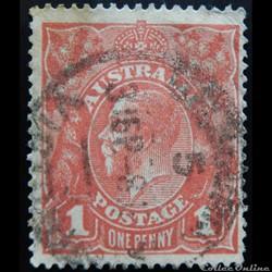 Australie 00020 Roi Georges V 1p de 1914