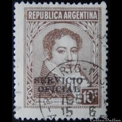 Argentine S0342 Bernardino Rivadavia 10c de 1942
