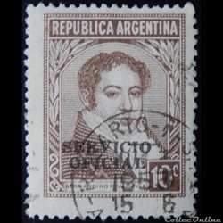 Argentine S0342 Bernardino Rivadavia 10c...